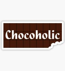 Chocoholic T-shirt ~ I Love Chocolate Sticker Sticker