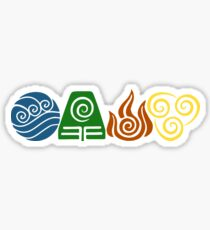 Water, Earth, Fire, Air Sticker