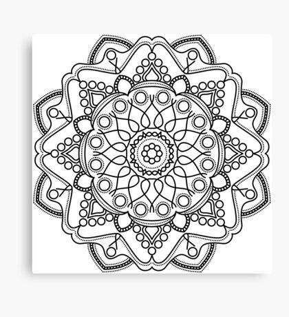 Bubbly Mandala Canvas Print