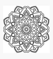 Bubbly Mandala Photographic Print