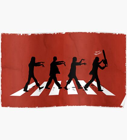 Zombies on Abbey Road (Version 02) Poster