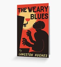 Retro The Weary Blues (music) Greeting Card