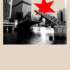 State Street Chicago River Bridge Tee by Chicago Tee