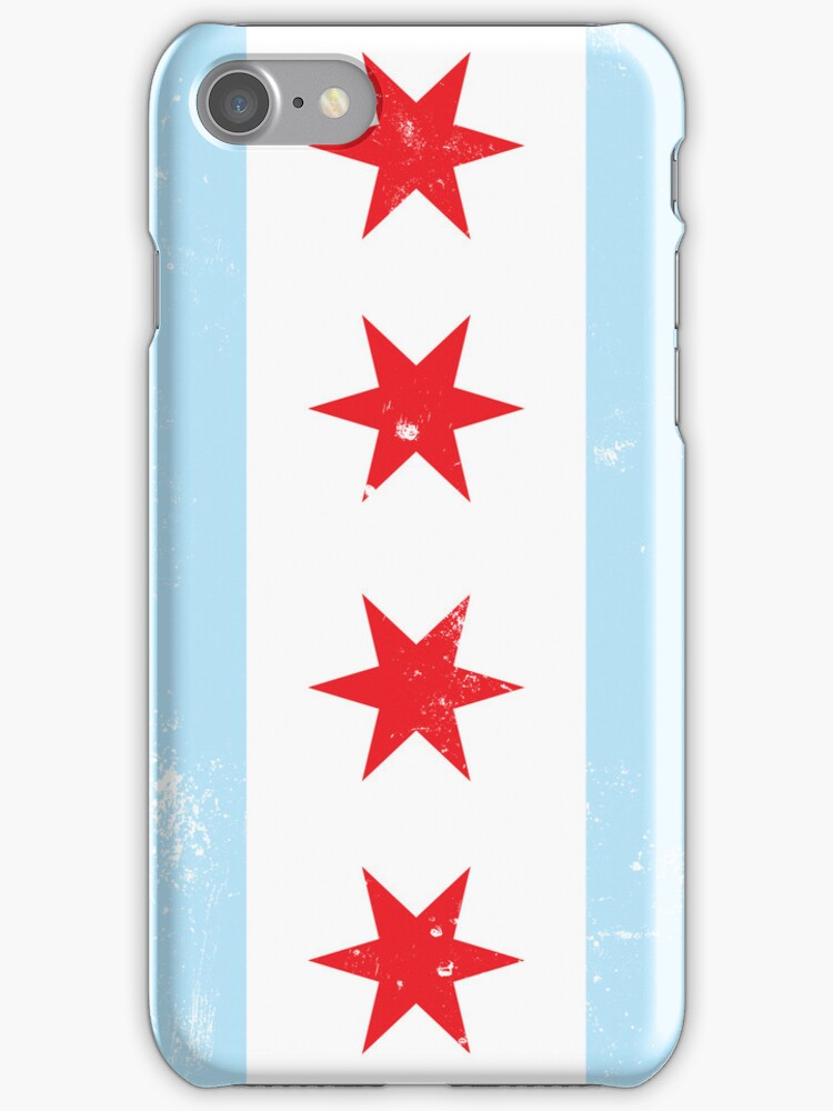 Chicago Flag iPhone Case by Chicago Tee