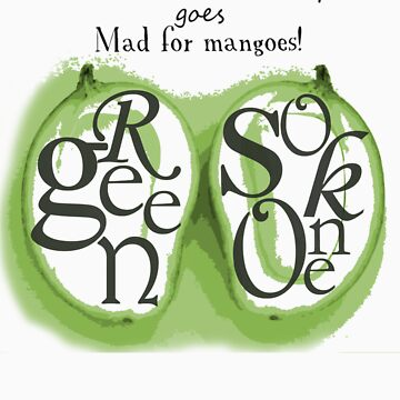 Go Mad for Mangoes: Green Sokone T-shirt by haliehovenga