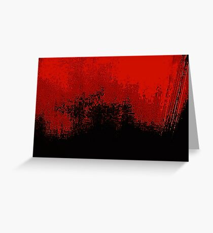 Red Darkness Greeting Card