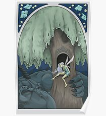 Dusk in the Enchanted Forest Poster