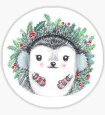 Holiday Hedgehog Sticker