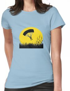 Silhouette - Army Parachute Man Womens Fitted T-Shirt