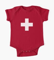 Swiss Flag Baby Onesie Jumpsuit Pyjama Clothing - Schweizer One Piece - Short Sleeve