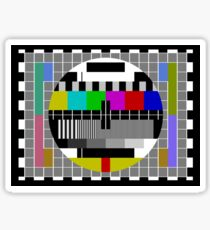 TV Test Pattern T-shirt Sticker