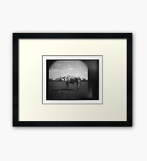 Instant Cow Framed Print
