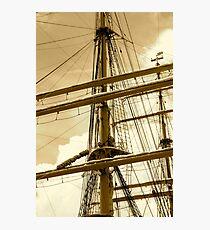 Barque Eagle Mast Photographic Print