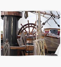 HMS Bounty - At the Helm Poster