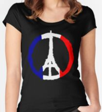 Peace For Paris Women's Fitted Scoop T-Shirt