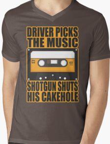SUPERNATURAL - Driver Picks the Music.. Mens V-Neck T-Shirt