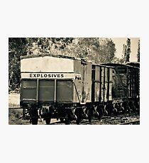 Vintage train carriage - explosives Photographic Print