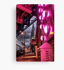 The Shard in Pink Canvas Print