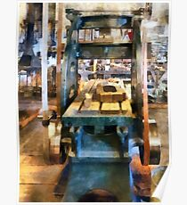 Reciprocating Flatbed Planer Poster