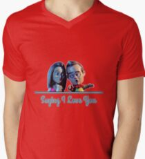 Community - Jeff and Annie Saying I Love You (Style B) Men's V-Neck T-Shirt
