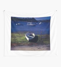 Boats on a lake Wall Tapestry