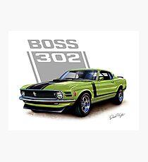 1970 Boss 302 Mustang in Grabber Green Photographic Print