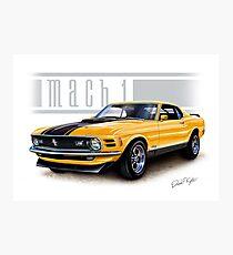 Mustang Mach 1 1970 in Grabber Orange Photographic Print