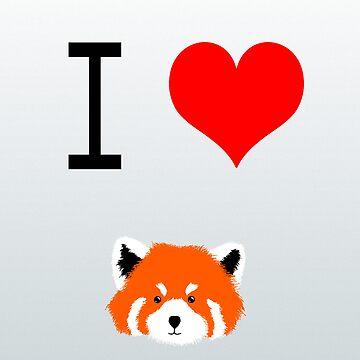 I ♥ Red Panda by Hitsuji