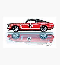 1969 Trans Am Mustang & 2010 Saleen Photographic Print