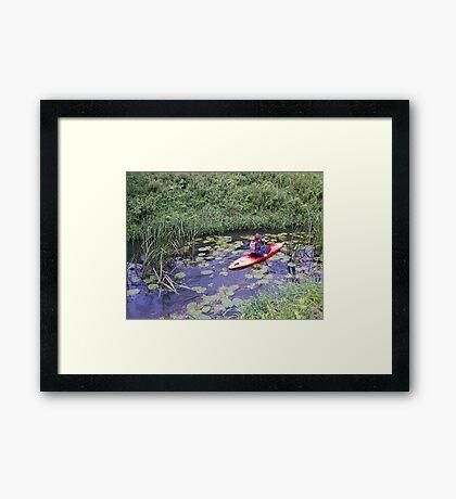 Kayaking up the Cuckmere Framed Print