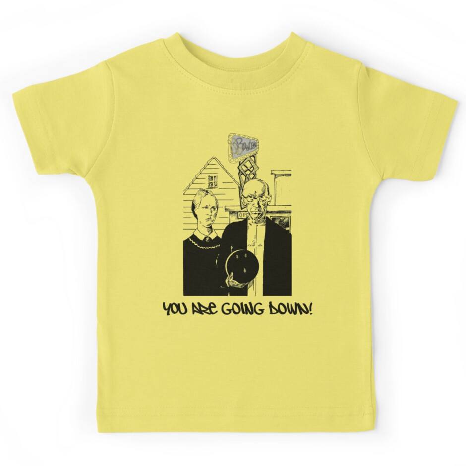 Very Funny Retro Bowling T Shirt Kids Tees By Sportst