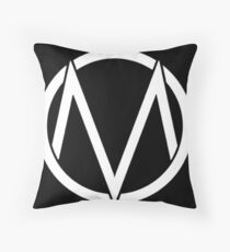 The Maine - Band  Logo White Throw Pillow