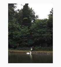 Father/Son/2xSwans -(070812)- Digital photo Photographic Print