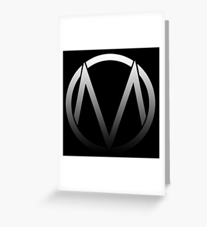 The Maine - Band  Logo Fade Greeting Card