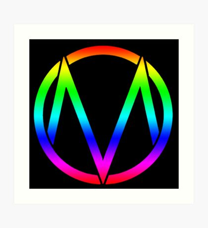 The Maine - Band  Logo Rainbow Art Print