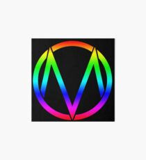 The Maine - Band  Logo Rainbow Art Board