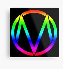 The Maine - Band  Logo Rainbow Metal Print
