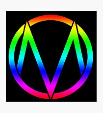 The Maine - Band  Logo Rainbow Photographic Print
