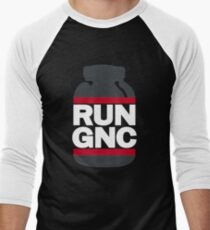 RUN GNC on Black Men's Baseball ¾ T-Shirt