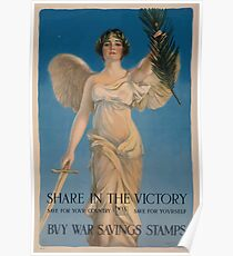 Share in the victory Save for your country Save for yourself Buy War Savings Stamps 002 Poster