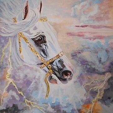 Arabian Horse - equine, western art, equestrian by TwoFriends
