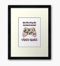 Floral video game controller Framed Print