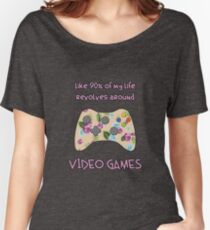 Floral video game controller Women's Relaxed Fit T-Shirt