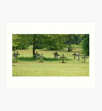 Civil War Graves Art Print