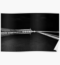Newcastle Ocean Baths at Night, mono Poster