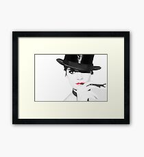That Look Between The Lines (SC) Framed Print