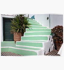 Hand Painted Steps Poster