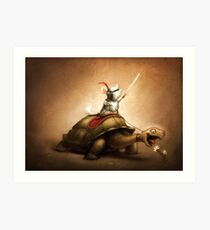Knight of the Chinchilla Art Print