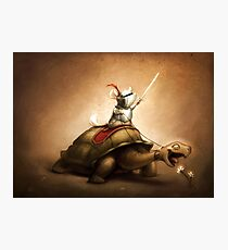 Knight of the Chinchilla Photographic Print
