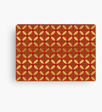 Rot Gold Muster Canvas Print